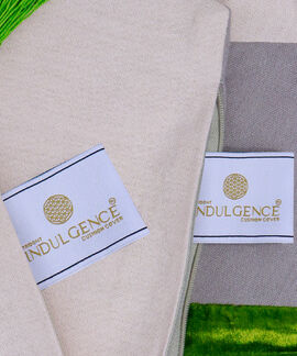 Indulgence Collection 2 Pieces Set 40X40 Cms Cotton Velvet Fressia Cushion Cover