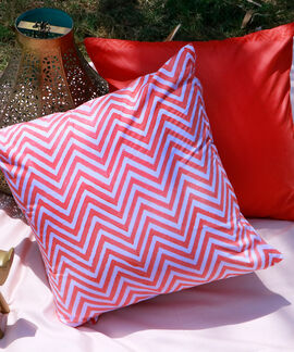 Classic Collection 2 Pieces Set 40 X40 Cms 100 % Cotton Wiggle Cushion Cover