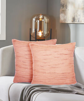 Shimmer Collection 2 Pieces Set 40 X 40 Cms Lurex Cotton Soft Pink Cushion Cover